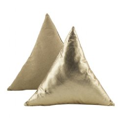 Gold Foil Triangle Cushion