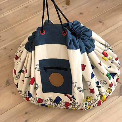 printed play pouch - bricks galore