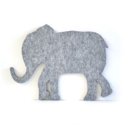 Elephant Felt Wall Art