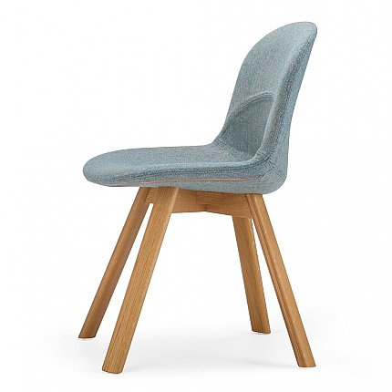 lunar chair bayswater aqua with natural oak leg