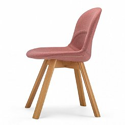 lunar chair barbician red with natural leg