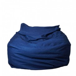 Tigeroy Denim Seated Beanbag - Dark Denim