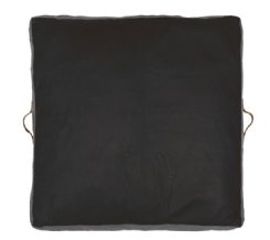 Square Leather Floor Pads - Black