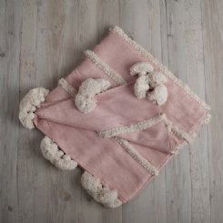 Lila Ruffles Throw