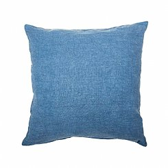 linen cushion denim