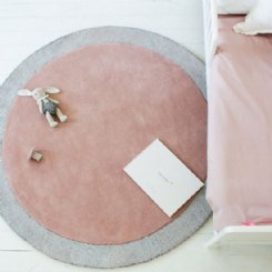 Little P Silver Moon Blossom Pink Rug