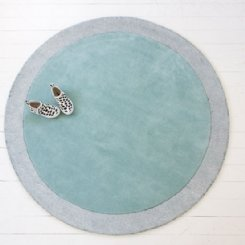 silver moon icy blue rug