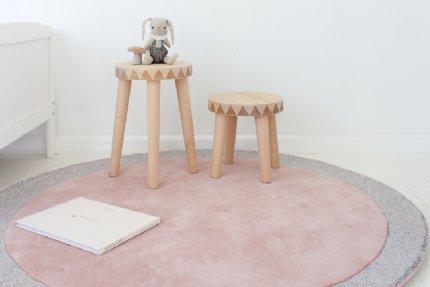 silver moon blossom pink rug