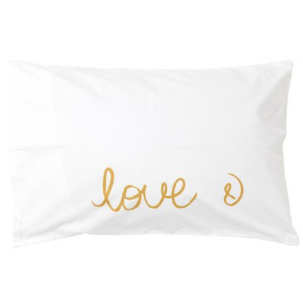 Love & Pillowcase - Gold