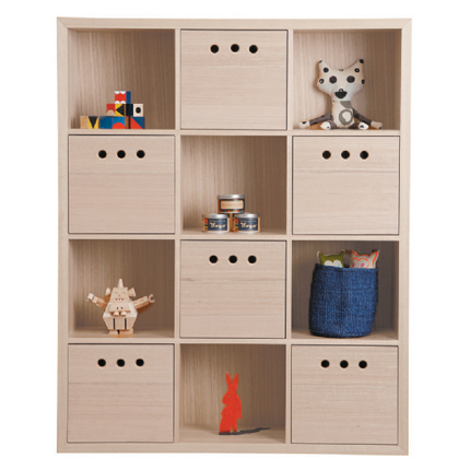 marina bookcase 12 cube - White Wash