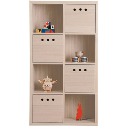 marina bookcase 8 cube - White Wash