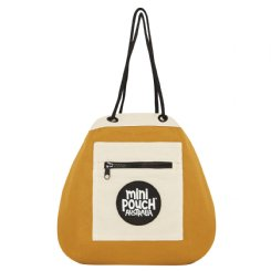 colonial mustard mini pouch