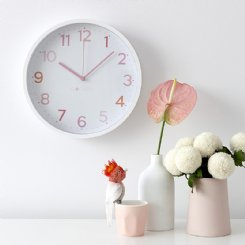 Multi Pink Wall Clock