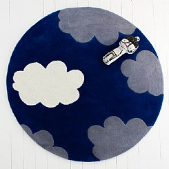 My Bright Cloud Rug - Azure