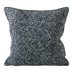 naoshima indian teal cushion