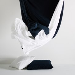 Belgian Linen Navy Pillowcases (set of 2)
