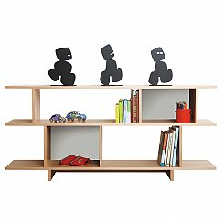 ned bookcase 2 tiered colour options