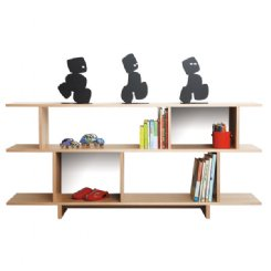 ned bookcase 2 tiered white