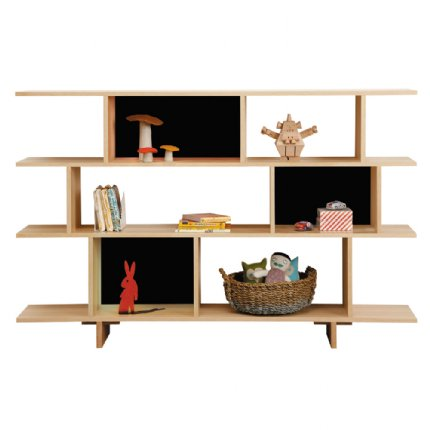ned bookcase 3 tiered black