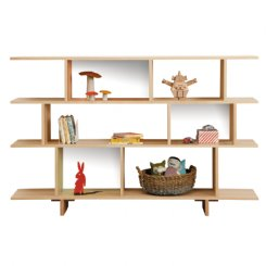 ned bookcase 3 tiered white