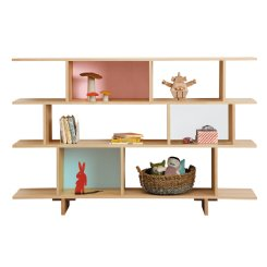 ned bookcase 3 tiered multi colour