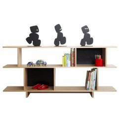 ned bookcase 2 tiered black