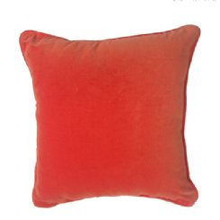 Velour Cushion - Orange