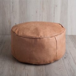 Leather Luxe Ottoman