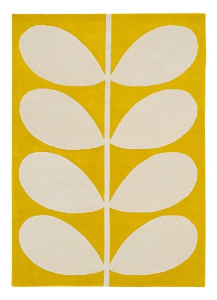 yellow stem designer rug
