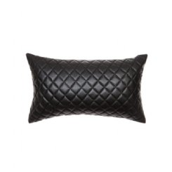 Pages Quilted Cushion - Black