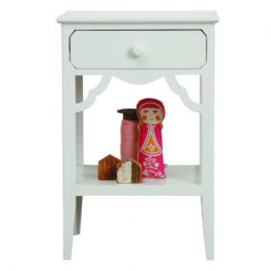 petite rouge bedside table - white