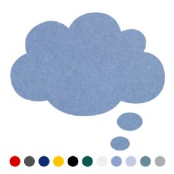 thought bubble or cloud pin board - large