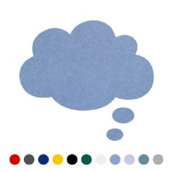 thought bubble or cloud pin board - medium