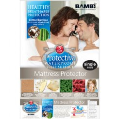 Stretch Knit Cotton / Waterproof Bamboo Mattress Protector