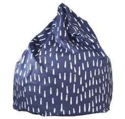 Raindrops  Bean Bag - Indigo