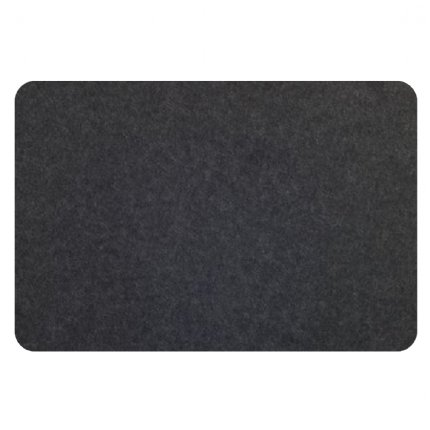 curved rectangle pinboard - ash/charcoal pin board