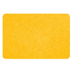 curved rectangle pinboard - yellow