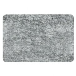 curved rectangle pin board - grey