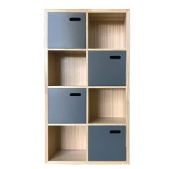 scoop bookcase charcoal small