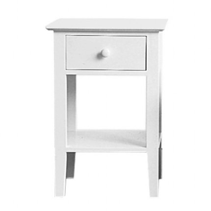 sleigh bedside table - white