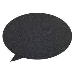 pinboard speech bubble - charcoal