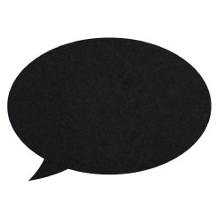 speech bubble pin board - black