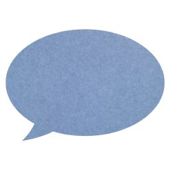 pinboard speech bubble - cornflower blue