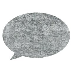 pinboard speech bubble - grey