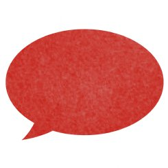 pinboard speech bubble  - red
