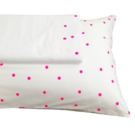 Sprinkle Sprinkle Pillowcase Fluro Pink