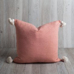 Blush Tassel Cushion