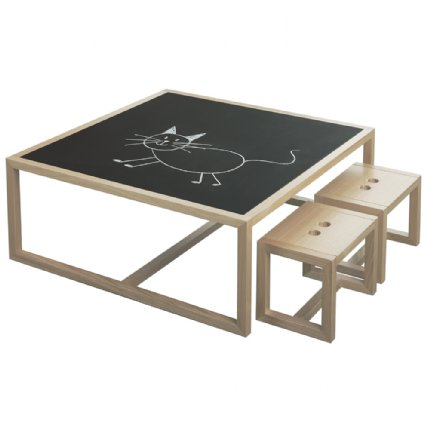 chalk board play table natural