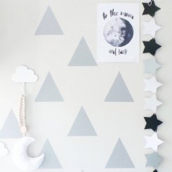Triangles Wall Stickers - SILVER