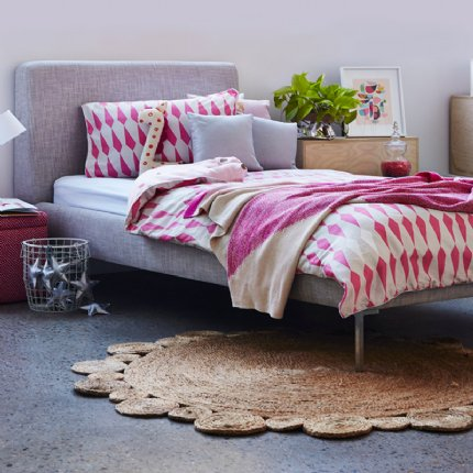 upholstered bed single